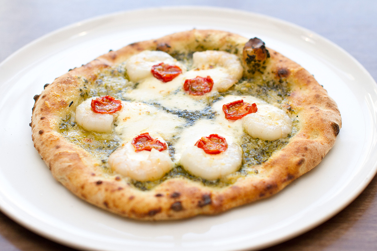 えびとマスカルポーネチーズのバジルソース