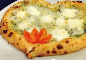 しらすと蓮根とモッツァレラチーズのバジルソース ¥1450